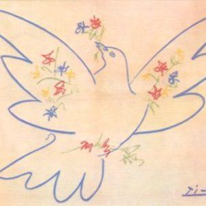Picasso Karte Taube farbig