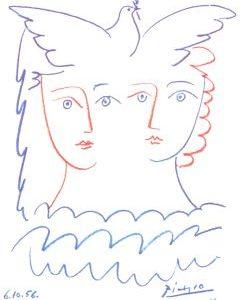 Picasso Karte Gesichter