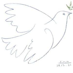 Picasso Karte Taube s/w