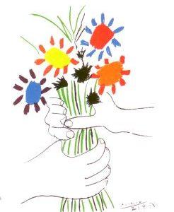 Picasso Karte Blumenstrauss