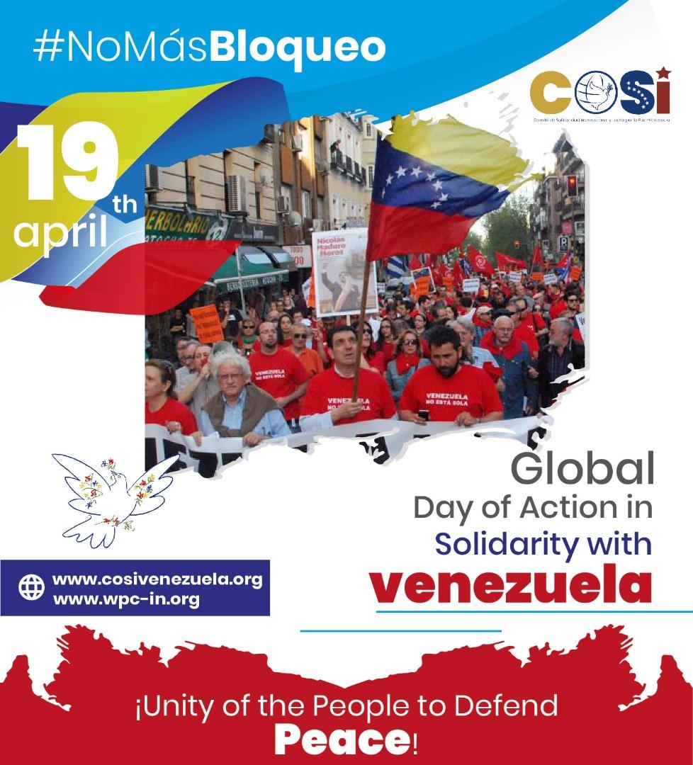 Weltaktionstag in Solidarität mit Venezuela, 19.04.2020